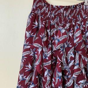 Anthropologie Ruffled Maxi skirt